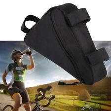 New Riding Bike Front Tube Triangle Kits Bag Bicycle Cycling Bags Fast Black GA