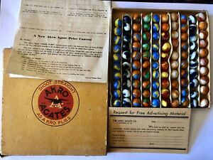 Akro Agate No. 0 Marble Box W/100 Prize Names, Specials W/Original Paperwork HTF
