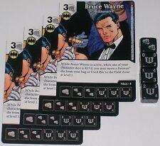4 X BRUCE WAYNE: BILLIONAIRE 42 World's Finest DC Dice Masters