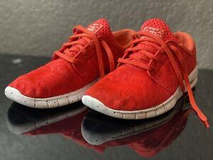 Pre Own Nike SB Stefan Janoski Max Light Crimson Floral Skate 631303-661 Size 11