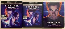 STAR TREK TRILOGY THE KELVIN TIMELINE 4K ULTRA HD BLU RAY + SLIPCOVER & POSTER