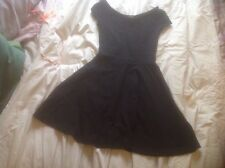 Top Shop Ladies BLACK Size 8 Skater Dress VGC Bargain