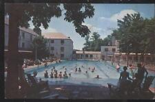 POSTCARD BETHESDA MD/MARYLAND KENWOOD GOLF COUNTRY CLUB SWIMMING POOL 1950'S