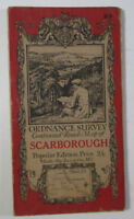 Old Vintage 1925 OS Ordnance Survey One-Inch Popular Edition Map 23 Scarborough