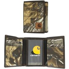 Carhartt Realtree TriFold Wallet Camouflage. Canvas And Leather