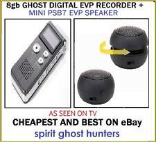 Ghost psb7 Mini Portatile Altoparlanti paranormale + 8gb EVP Spirito REGISTRATORE CACCIA