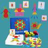 155pcs Wooden Jigsaw Puzzle Board Set Colorful Kids Montessori Educational MKI