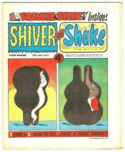 Shiver & Shake comic 28th July 1973 Frankie Stein Ken Reid's Creepy Creations