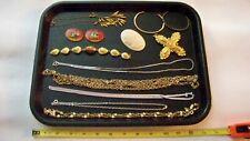 Mixed Jewelry Tray Lot, Necklaces/Bracelets/Penda nts/Glass Discs 13pcs