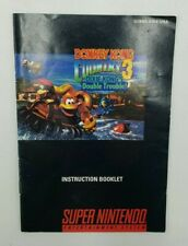 Donkey Kong Country 3: Dixie Kong's Double Trouble (SNES, 1996) Game Manual Only