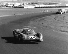 Vintage 8X10 1967 Daytona Ferrari 330 P4 Scarfiotti / Parkes & Alfa GTA