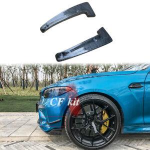 Carbon Fibre Front Bumper Splitters Fins Chin Canards For BMW M2 M2C F87 2015+