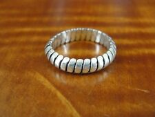 925 Ring Size 7 Groove Lines Band Sterling Silver