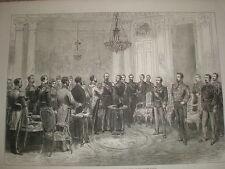 Cérémonie d'investiture Patrice de Mac-Mahon Maréchal France espagnole ordre Toison d'Or 1875
