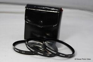 Quantaray 55mm kit +1 2 4 Filters close up macro set