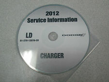 2012 DODGE CHARGER Service Shop Repair Workshop Manual CD DVD NEW FACTORY