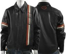Harley Davidson Leather Jacket ELEMENT Striped NWOT 97114-07VM Large