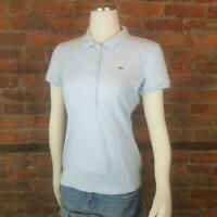 Izod Women's Polo Shirt Light Blue Short Sleeves Alligator Size 42/M