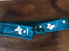 Vintage White Duck Workshop Wool Belt Silk Appliqué