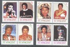 Michael Jackson set of 8 stamps mnh - Music