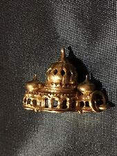 Vintage 10CT Gold charm Brighton Pavilion Anhänger Bettelarmband punziert