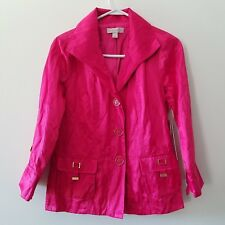 New Laura Ashley Spring Button Jacket Sz Small MSP $128.00 Polyester Blend