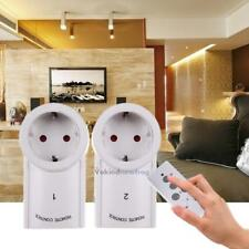 2x Wireless Power Outlets Light Switch Socket Home Mains Plug EU Remote Control
