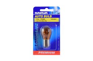 Narva Globe Premium Incandescent Amber BAU15S PY21W 12V 21W Blister Pack 1763...