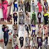 2Pcs Women Melange Tracksuit Hoodie Sweatshirt Pants Set Sports Jogging Suit New
