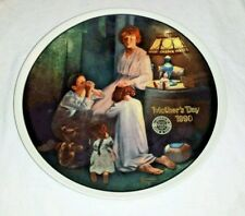 1990 Edwin Knowles Collectors Plate Evening Prayers by Norman Rockwell