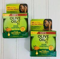 2 ORS Organic Root Stimulator Olive Oil Edge Control Hair Gel 2.25oz Ea New