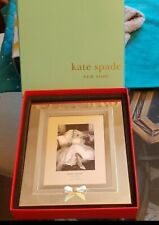 New Kate Spade Grace Avenue Silver Plated Picture Frame 5 X7 W/Box Wedding Gift