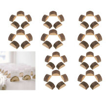 50x Wooden Table Numbers Holder Place Cards Stand Wedding Table Decorations
