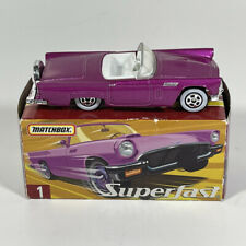 MATCHBOX SUPERFAST PINK 1957 FORD THUNDERBIRD  # 1 GREAT CONDITION