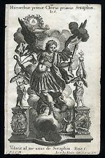 santino incisione 1700  CORI DEGLI ANGELI,I SERAFINI  klauber