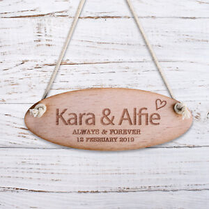 Personalised Wooden Door Signs Shabby Chic Hanging Plaques Any Name Kids Room