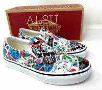 VANS Men's ALL SIZES Comics Classic Slip On Stickers Mash Up Shoes VN0A38F7VFV