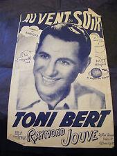 Partition To the wind evening Toni Bert Raymond Jouve Music Sheet