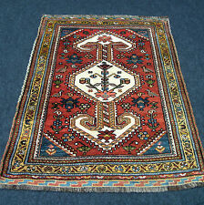 Antiker Orient Teppich 125 x 100 cm Alter Perserteppich Rotrost Antique Carpet