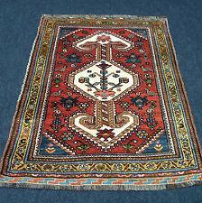 Antico tappeto orientale 125 x 100 cm età Tapis persan rotrost Antique Carpet