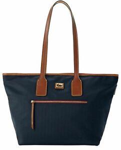 Dooney & Bourke Womens Camden Blue Fielding Nylon Hobo Tote Satchel Bag
