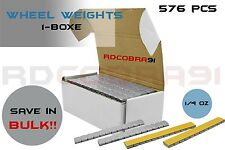 1 Box Grey Adhesive Wheel Weights 1/4 Ounce Steel 9lb Total Set 576 Pieces