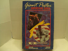 M.C. Hammer MB #4167-5 Giant Poster Superstars Puzzle Over 2 By 3 Feet NIB 1990!