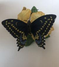 Lenox Black Swallowtail / Nature's Beautiful Butterflies / Fine Porcelain