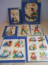 Vintage 1940's Meyercord Decals Swiss Children Theme Lot of 7 Packages