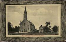 Coaticook Quebec Roman Catholic Church c1910 Postcard