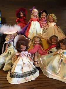 Lot Of 9 Vintage Nancy Ann Storybook Dolls