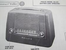 PHILCO 50-621 RADIO PHOTOFACT