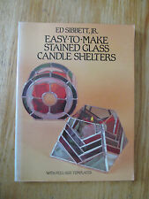 Easy-to-make stained candle shelters Art Nouveau & Deco SIBBETT 42 designs
