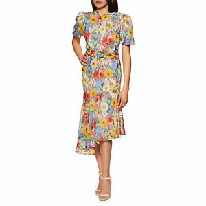 Hope & Ivy The Melody Womens Skirt/dress Dress - Blue Floral All Sizes